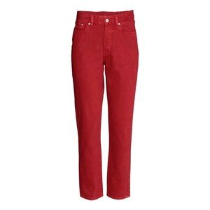 H&M Red Vintage High Waisted Jeans